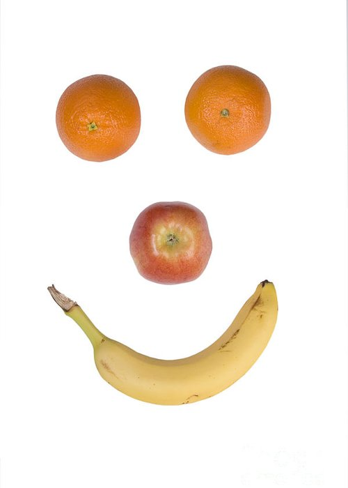 Fruit Greeting Card featuring the photograph Fruity Happy Face by James BO Insogna