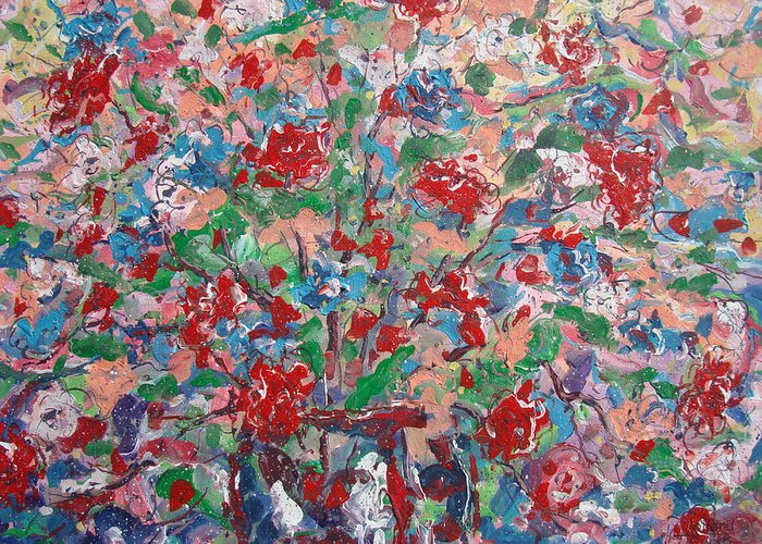 Painting Greeting Card featuring the painting Full Bloom. by Leonard Holland