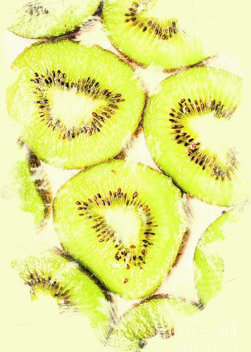 Kiwifruit Greeting Cards