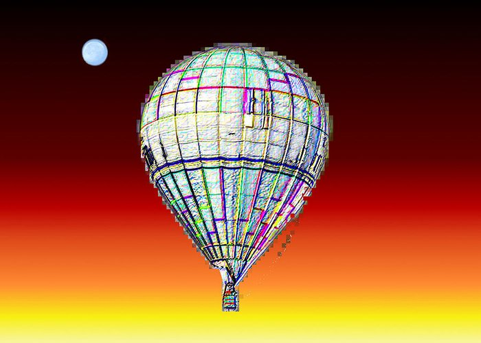 Moon Greeting Card featuring the photograph Full Moon Balloon by Tim Allen