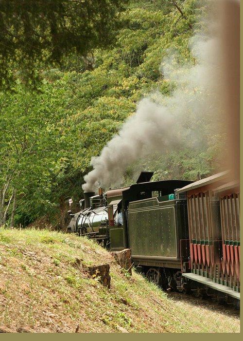 Train Greeting Card featuring the photograph Full Steam Ahead.2 by Linda A Waterhouse