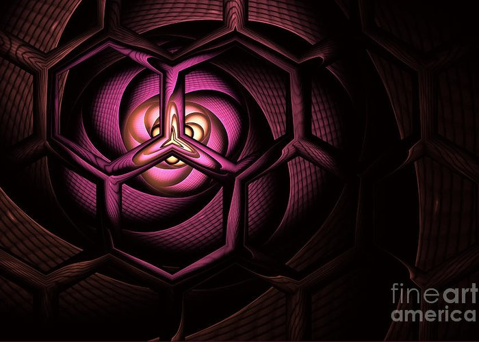 Molecule Greeting Card featuring the digital art Fullerene by John Edwards