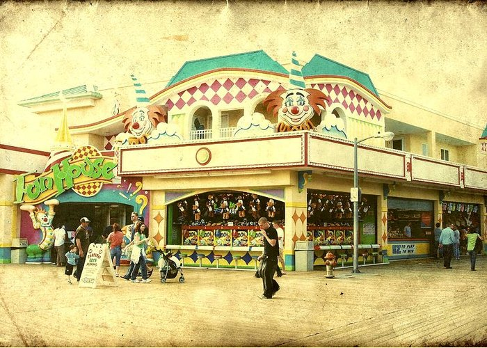 Fun House Greeting Card featuring the photograph Fun House - Jersey Shore by Angie Tirado