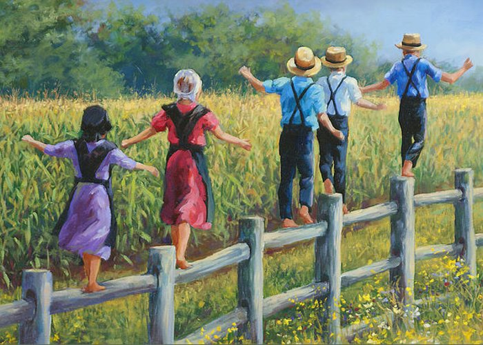 Amish Family Greeting Cards