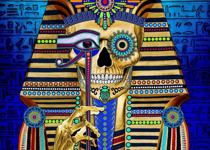 Pharaoh Mixed Media Greeting Cards
