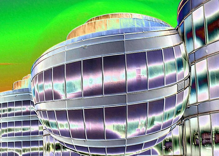 Digital Art Greeting Card featuring the photograph Future Office Space by Carol Groenen