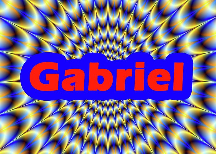 Men Greeting Card featuring the digital art Gabriel by Mitchell Watrous