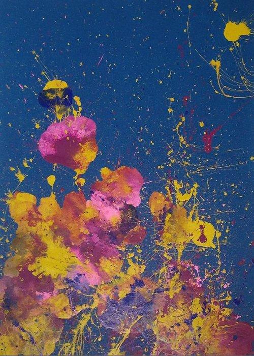 Greeting Card featuring the painting Galapagos by Qiuna Jiang