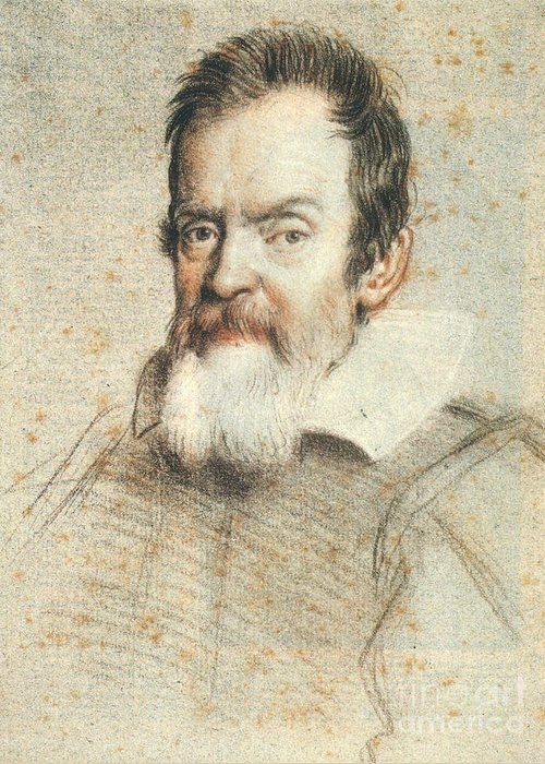 1624 Greeting Card featuring the photograph Galileo Galilei by Granger