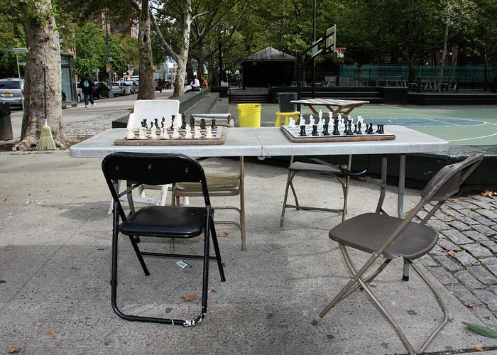 Harlem Greeting Card featuring the photograph Game Of Chess Anyone by Terry Wallace