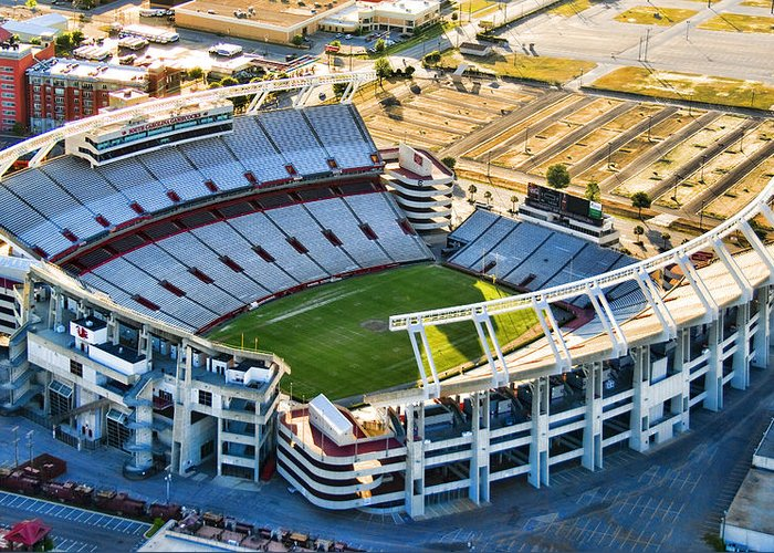 William Brice Stadium Greeting Card featuring the photograph Gamecock Corral by Steven Richardson