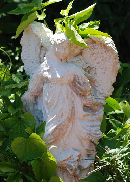 Angels Greeting Card featuring the photograph Garden Angel by Rob Hans