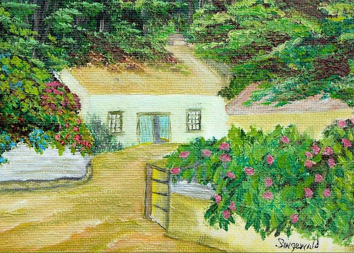 Garden Greeting Card featuring the painting Garden by Cary Singewald