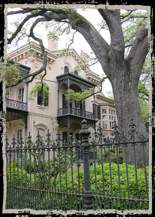 New Orleans Greeting Card featuring the photograph Garden District House by Linda Kish