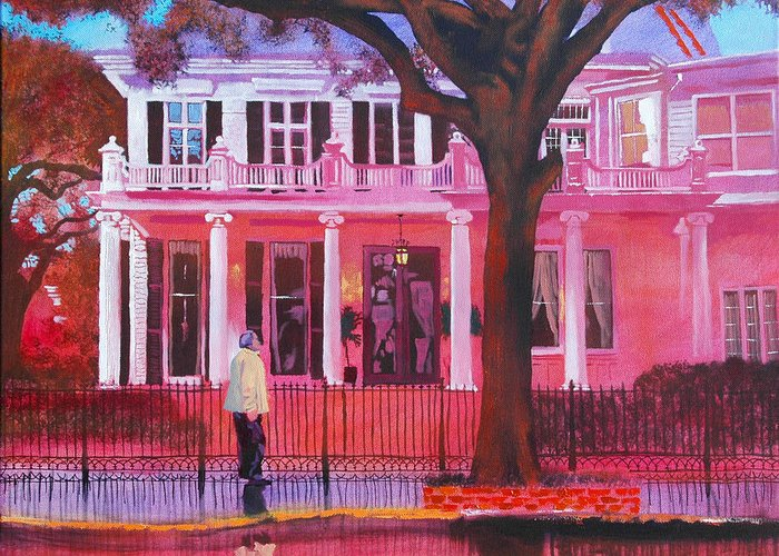 New Greeting Card featuring the painting Garden District by Robert Bissett