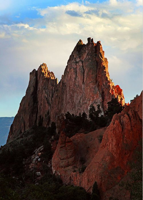 Mountain Greeting Card featuring the photograph Garden Of The Gods by John Cardamone