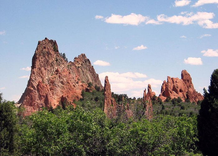Colorado Greeting Card featuring the photograph Garden Of The Gods by Margaret Fortunato