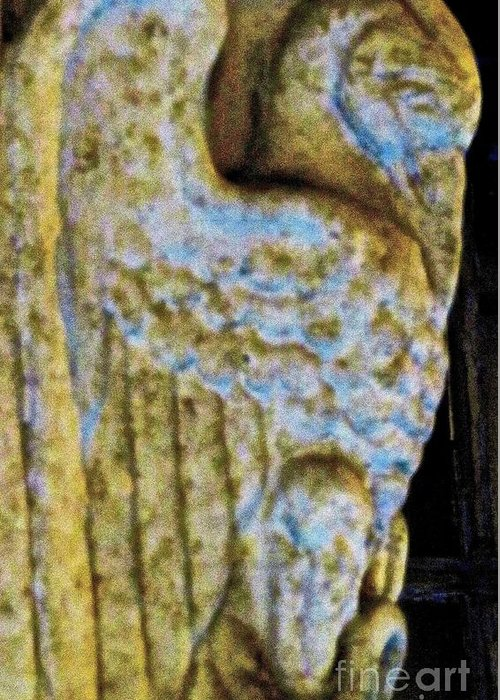 Gargoyle Greeting Card featuring the photograph Gargoyle by Ken Lerner