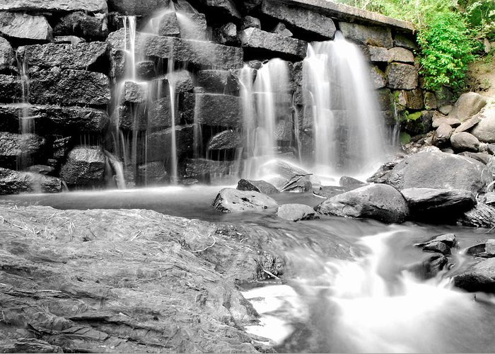 Greeting Card featuring the photograph Garland Falls 4 by Carol Christopher
