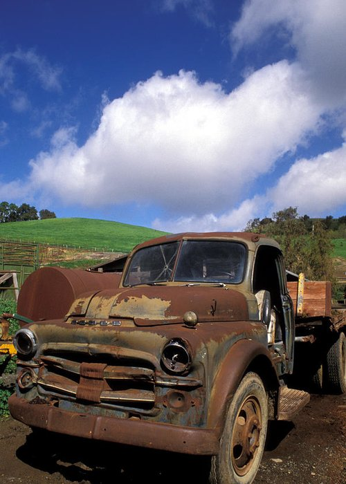 Old Trucks Greeting Card featuring the photograph Garrod's Old Truck by Kathy Yates