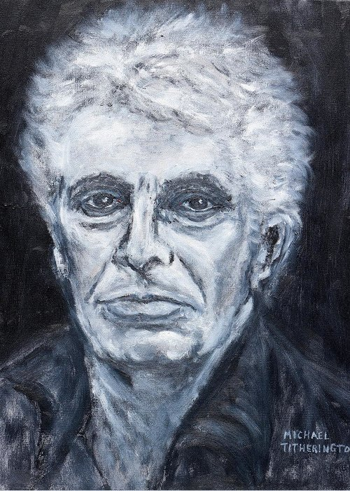 Gary Kendall Greeting Card featuring the painting Gary Kendall by Michael Titherington