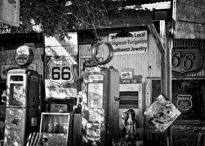 2010 Greeting Card featuring the photograph Gas Station On Route 66 by Hideaki Sakurai