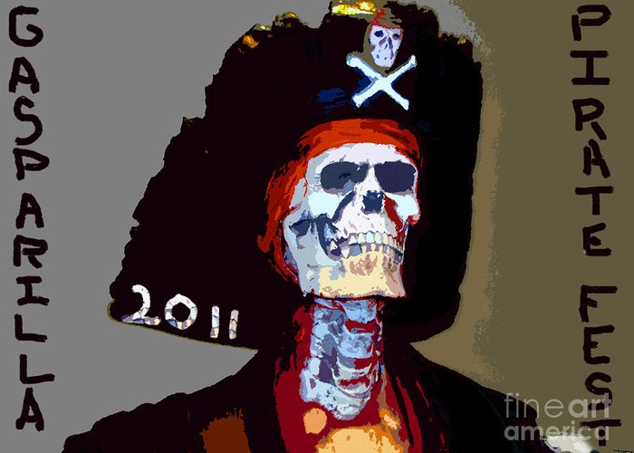 Gasparilla Greeting Card featuring the painting Gasparilla Pirate Fest Poster by David Lee Thompson