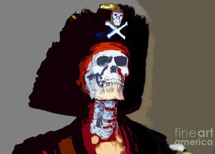 Gasparilla Pirate Festival Greeting Card featuring the painting Gasparilla Work Number 5 by David Lee Thompson