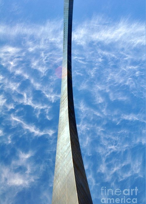 Gateway Arch Greeting Card featuring the photograph Gateway Arch 4 by Marty Koch