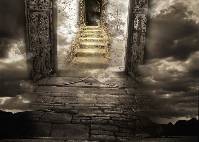 Surreal Greeting Card featuring the photograph Gateway To Heaven by Andy Frasheski