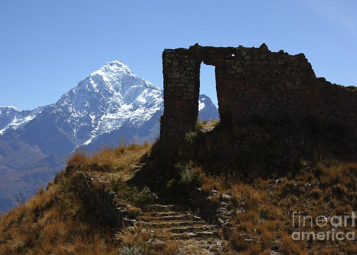Peru Greeting Card featuring the photograph Gateway To The Gods 2 by James Brunker