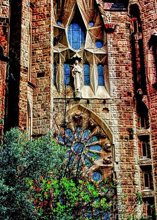 La Sagrada Famila Greeting Card featuring the photograph Gaudi Barcelona by Tom Prendergast