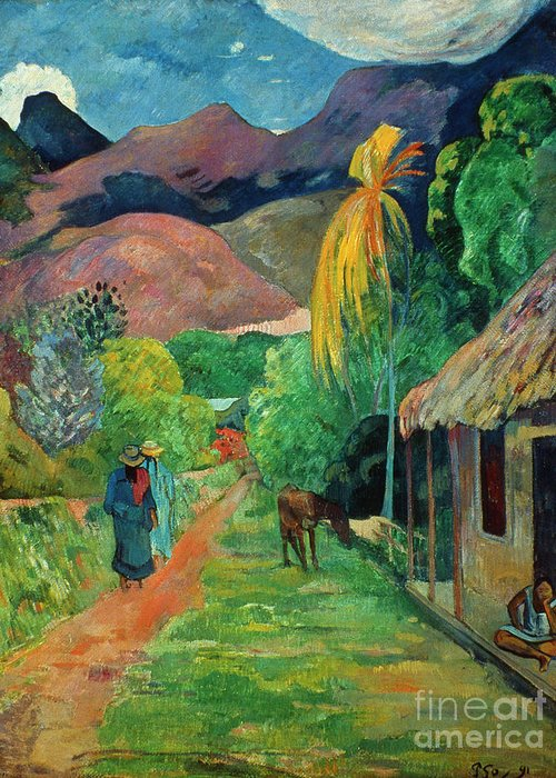 19th Century Greeting Card featuring the photograph Gauguin Tahiti 19th Century by Granger