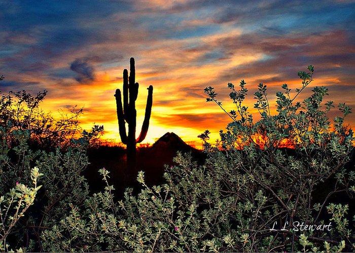 Arizona Greeting Card featuring the photograph Gavilan Peak 3 by L L Stewart