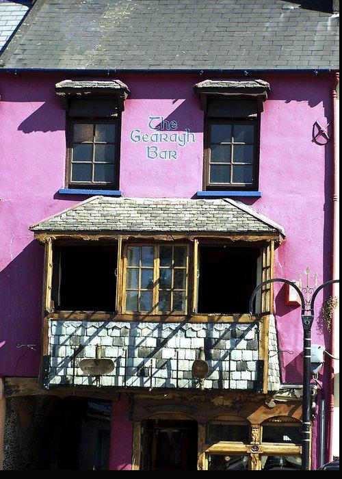 Irish Greeting Card featuring the photograph Gearagh Pub in Macroom Ireland by Teresa Mucha