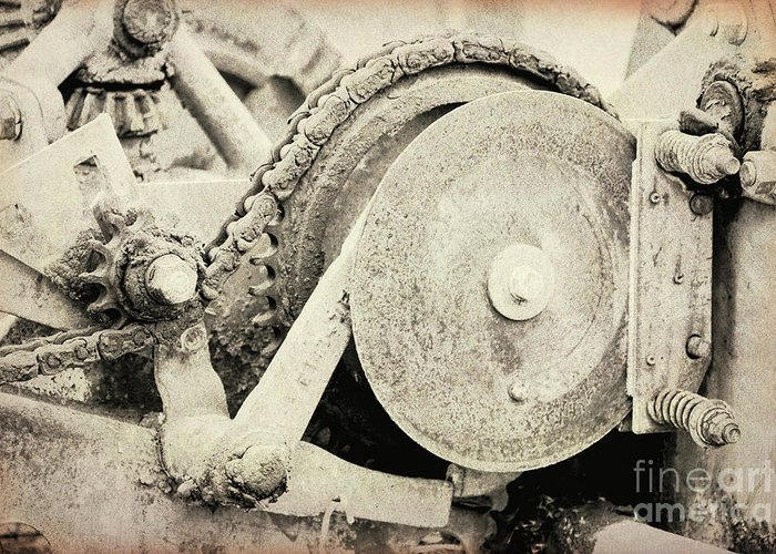 Photography Greeting Card featuring the photograph Gears Nuts And Bolts by Jackie Farnsworth