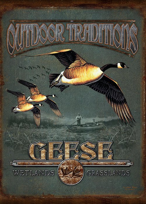 Cynthie Fisher Greeting Card featuring the painting Geese Traditions by JQ Licensing