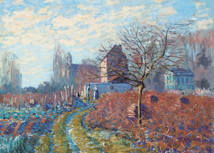 Impressionist; Impressionism; Landscape; Frost; Winter; Rural; Tree Greeting Card featuring the painting Gelee Blanche by Alfred Sisley