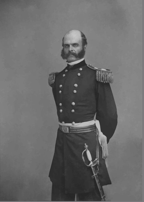 Ambrose Burnside Greeting Card featuring the painting General Ambrose Everett Burnside by War Is Hell Store