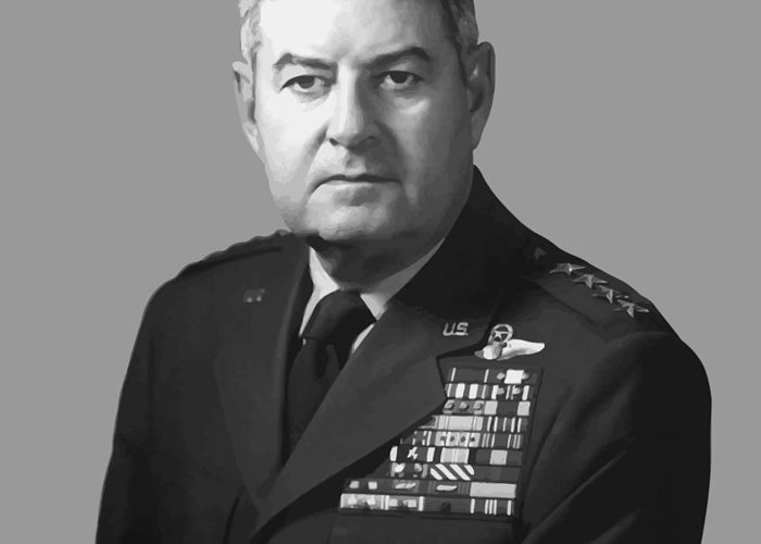 Curtis Lemay Greeting Card featuring the painting General Curtis Lemay by War Is Hell Store
