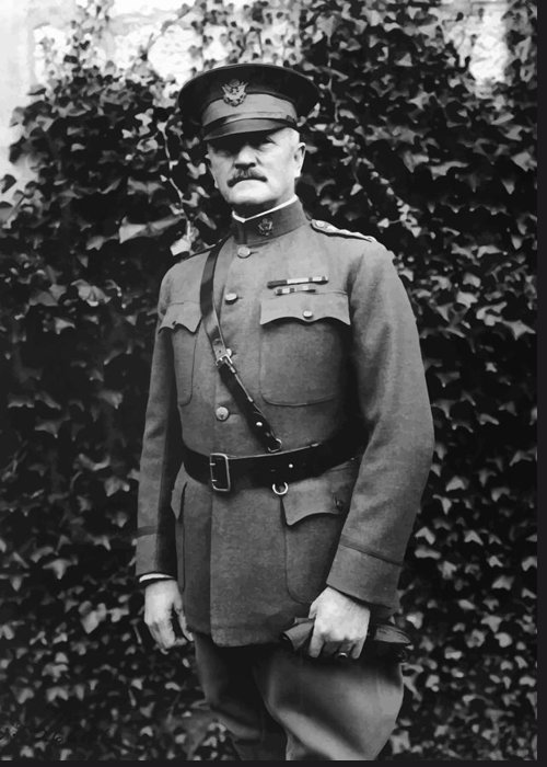 Ww1 Greeting Card featuring the painting General John J. Pershing by War Is Hell Store
