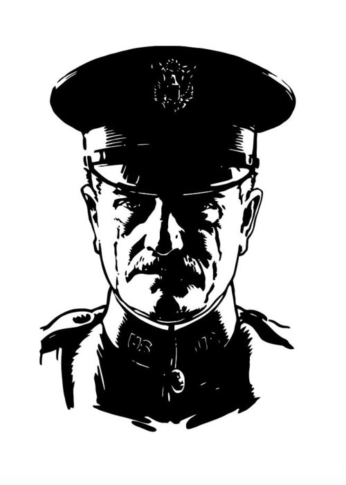 General Pershing Greeting Card featuring the digital art General John Pershing by War Is Hell Store