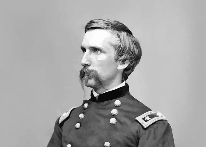 Joshua Lawrence Chamberlain Greeting Card featuring the painting General Joshua Lawrence Chamberlain by War Is Hell Store