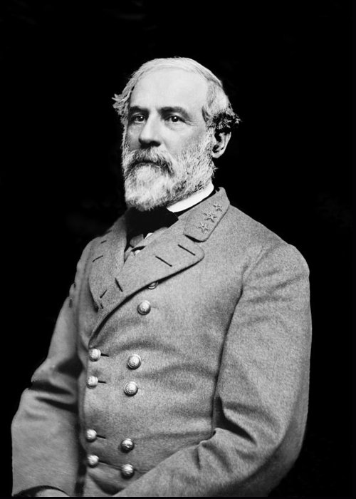 General Robert E Lee Greeting Card featuring the photograph General Robert E Lee - Csa by Paul W Faust - Impressions of Light