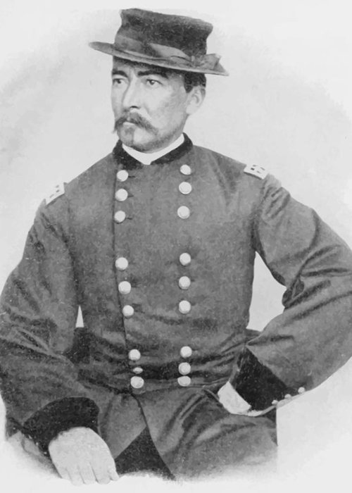 Philip Sheridan Greeting Card featuring the painting General Sheridan Civil War Portrait by War Is Hell Store