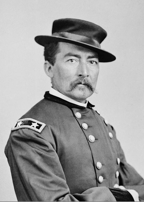 General Greeting Card featuring the photograph General Sheridan by War Is Hell Store
