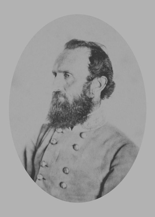Stonewall Jackson Greeting Card featuring the photograph General Thomas Stonewall Jackson by War Is Hell Store