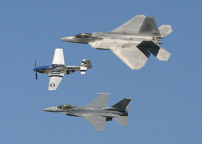 F-22 Greeting Card featuring the photograph Generations by Donald Tusa