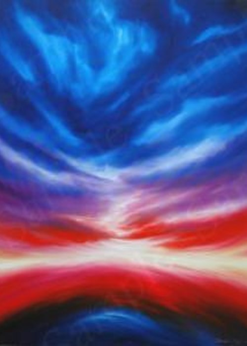 Tempest Greeting Card featuring the painting Genesis IIi by James Christopher Hill