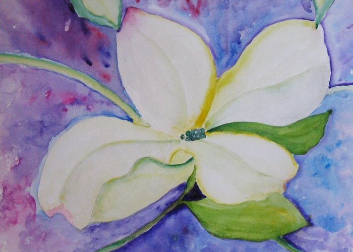 Greeting Card featuring the painting Genuine by Trilby Cole